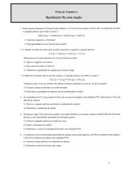 F2 - RENDIMENTO DE UMA REAÇÃO QUÍMICA