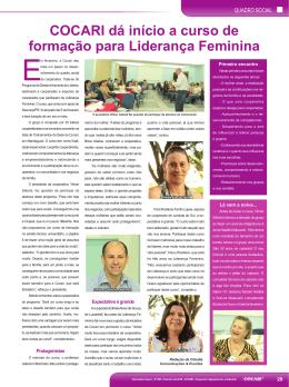 COCARI dá início a curso de formação para Liderança Feminina