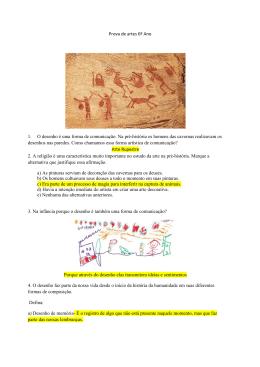 Prova de artes 6º Ano 1. O desenho é uma forma de comunicação