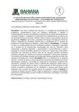 avaliação de estações como instrumento de análise do aprendizado