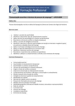 """""""Comunicação assertiva e técnicas de procura de emprego"""
