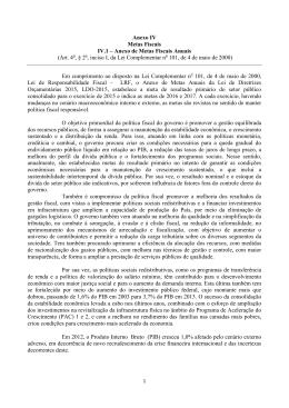 Sugestões de texto para alteração do PLDO 2015