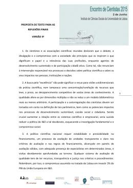 PROPOSTA DE TEXTO PARA AS REFLEXÕES FINAIS VERSÃO 3ª