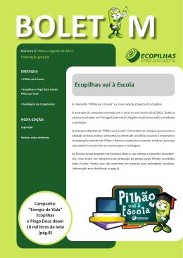 Boletim Ecopilhas nº5
