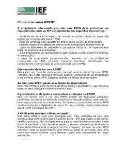 Manual - Como criar uma RPPN