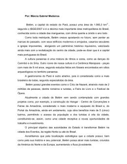 Belém, a capital do estado do Pará, possui uma área de 1