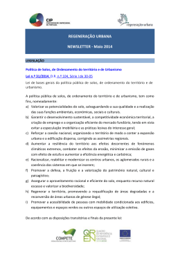 REGENERAÇÃO URBANA NEWSLETTER