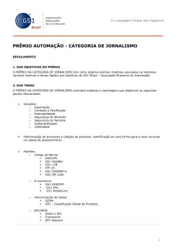 PRÊMIO AUTOMAÇÃO - CATEGORIA DE JORNALISMO