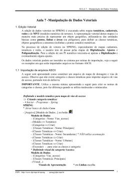 Aula 7 -Manipulação de Dados Vetoriais - DPI