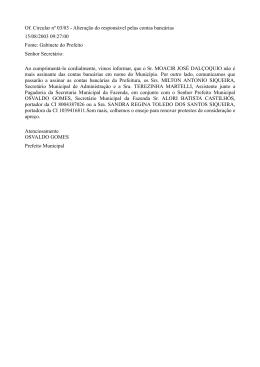 Of. Circular nº 03/03 - Alteração do responsável pelas contas