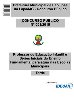 Professor de Educação Infantil e Séries Iniciais do Ensino