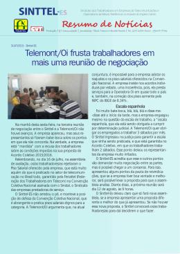 Telemont/Oi frusta trabalhadores em mais uma reunião - Sinttel-ES