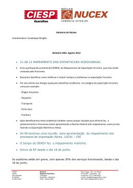 • 21.08.12 MAPEAMENTO DAS EXPORTACOES