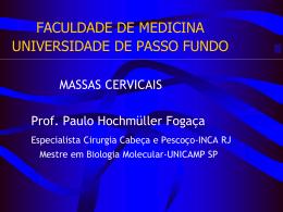 FACULDADE DE MEDICINA UNIVERSIDADE DE PASSO FUNDO