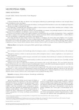 13 Neutropenia Febril - Repositório do Hospital Prof. Doutor
