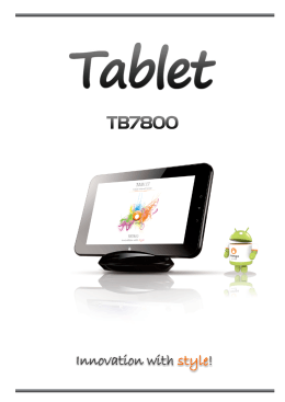 Tablet TB7800 - Orange Cool Thing!!!