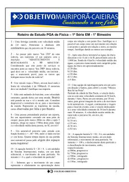 Física PGA - Portal Colégio Objetivo Mairiporã
