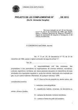 243/13 - Câmara dos Deputados