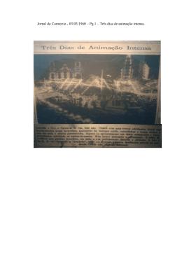 Jornal do Comercio - 03/03/1960 – Pg.1 – Três dias de animação