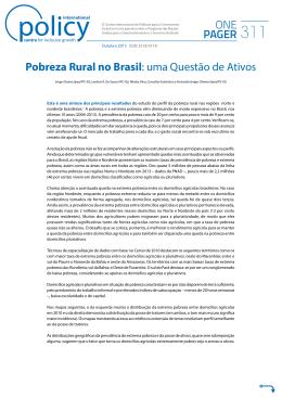 ONE PAGER Pobreza Rural no Brasil: uma Questão de Ativos