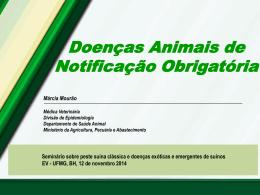 Doenças Animais de Notificação Obrigatória