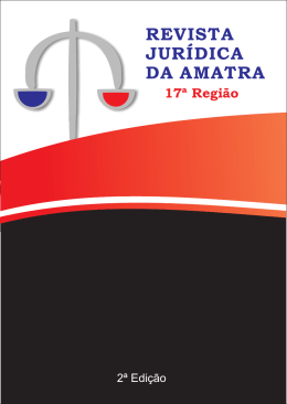 Capa Montada_agencia - Associação dos Magistrados do Trabalho