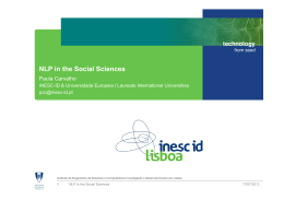 NLP in the Social Sciences