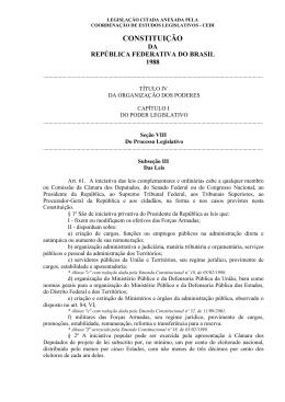 Legislação Citada - Câmara dos Deputados