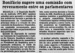 Bonifácio sugere uma comissão com revezamento entre os