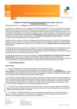 Comissão de Nomeações e Remunerações - Mota