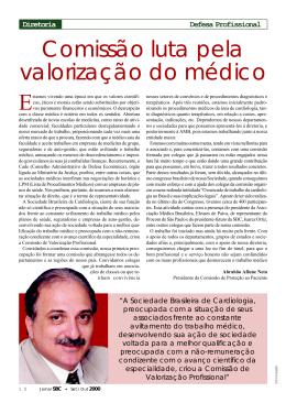 Comissão luta pela valorização do médico