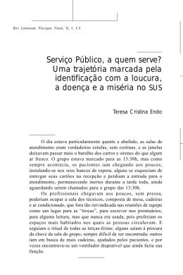 Serviço Público, a quem serve? Uma trajetória marcada pela
