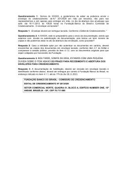 Questionamentos recebidos em 12.11.2013
