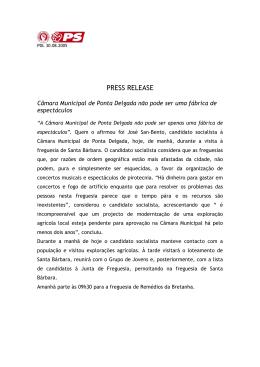 Câmara Municipal de Ponta Delgada não pode ser uma fábrica de