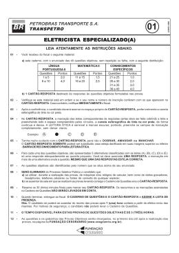 prova 1 - eletricista especializado(a).pmd