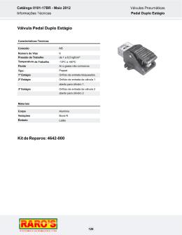 Válvula Pedal Duplo Estágio Kit de Reparos: 4642-000