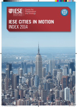 IESE CITIES IN MOTION INDEX 2014