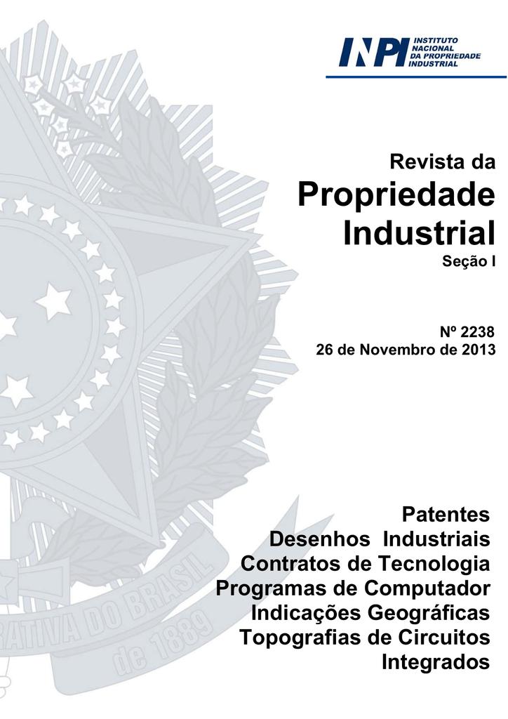 8638495a2 secador térmico por fuso aquecido - Revista da Propriedade Industrial
