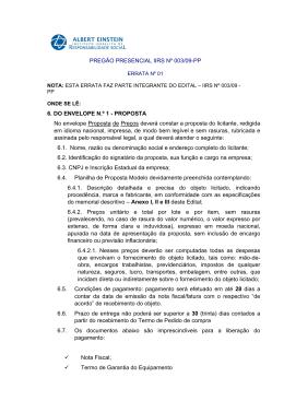 PREGÃO PRESENCIAL IIRS Nº 003/09