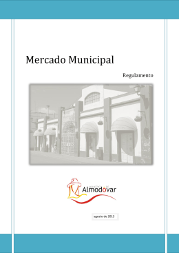 Regulamento do Mercado Municipal