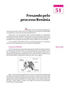 51. Fresando pelo processo Renânia