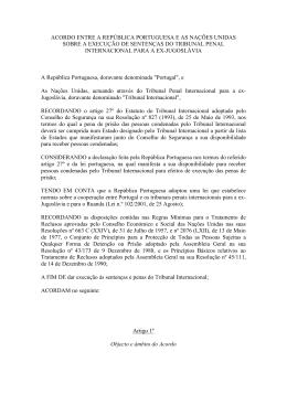 acordo entre a república portuguesa e as nações unidas sobre a