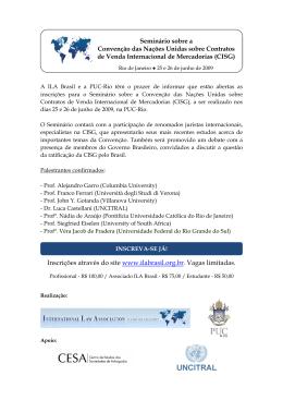 Seminário sobre a Convenção das Nações Unidas sobre