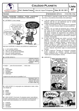 Questões de língua portuguesa com gabarito