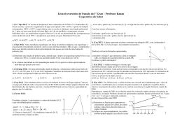 Lista de exercícios de Função do 1º Grau – Professor Kauan
