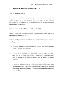 7.4 Curva Característica da Instalação → (CCI) 7.4
