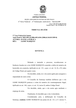 TRIBUNAL DO JÚRI 3ª Vara Federal de Santos