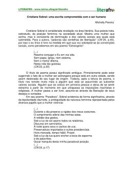Cristiane Sobral: uma escrita comprometida com o ser humano