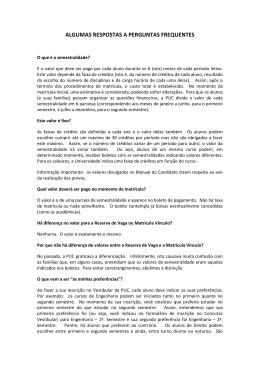 Perguntas mais frequentes - PUC-Rio