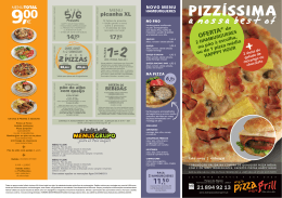 Folheto - Meio Pizza Meio Grill